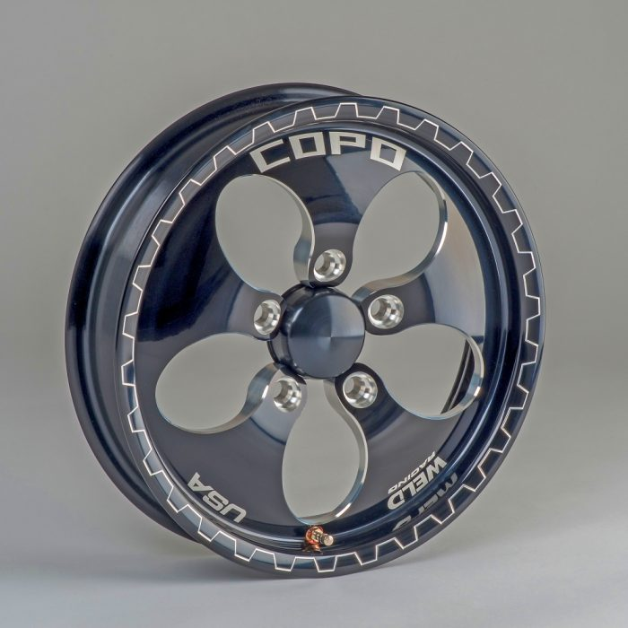 TK50006 - COPO WHEEL FRONT W/CAP AND LUG NUTS WELD BLK 2015